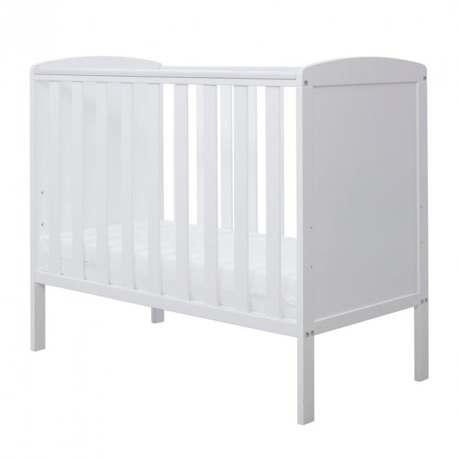 Coleby Space Saver Cot And Fibre Mattress - White
