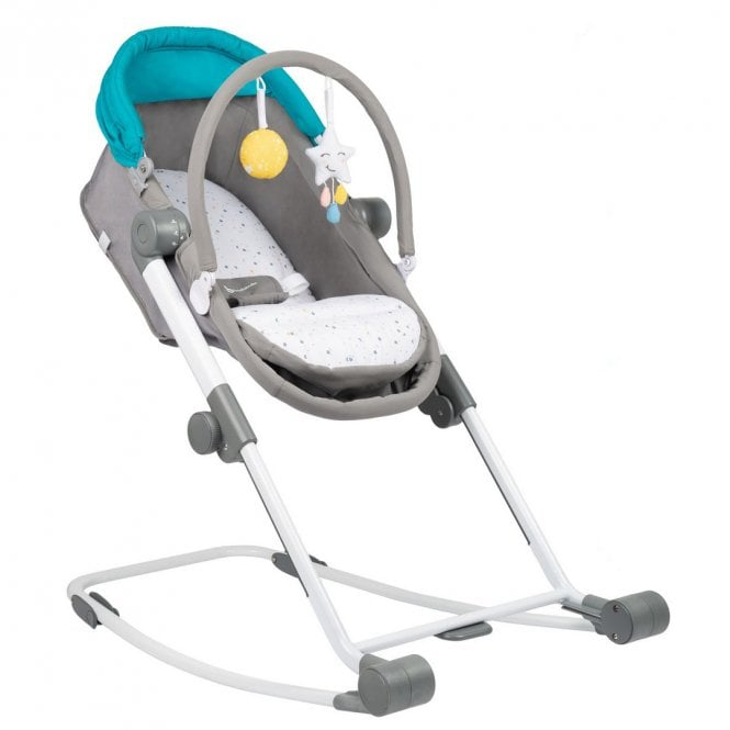 Compact Relax 3 In 1 Rocker Highchair - Grey / Blue