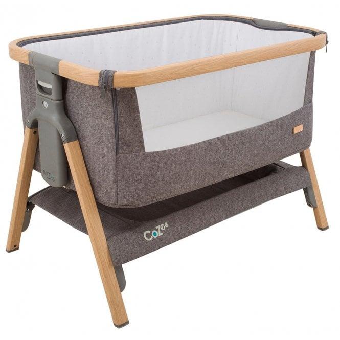 CoZee Bedside Crib - Oak / Charcoal