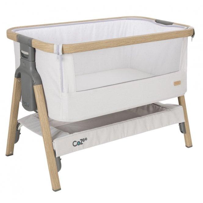 CoZee Bedside Crib - Oak / Sterling Silver