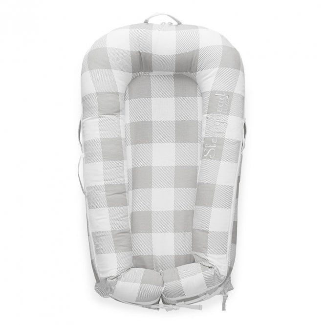 Deluxe Plus Baby Pod, 0-8 Months - Buffalo Plaid - Natural Buffalo