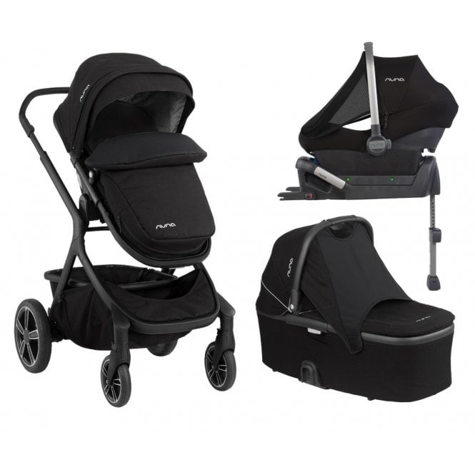 Demi Grow Pushchair Travel System + ISOfix Base - Caviar