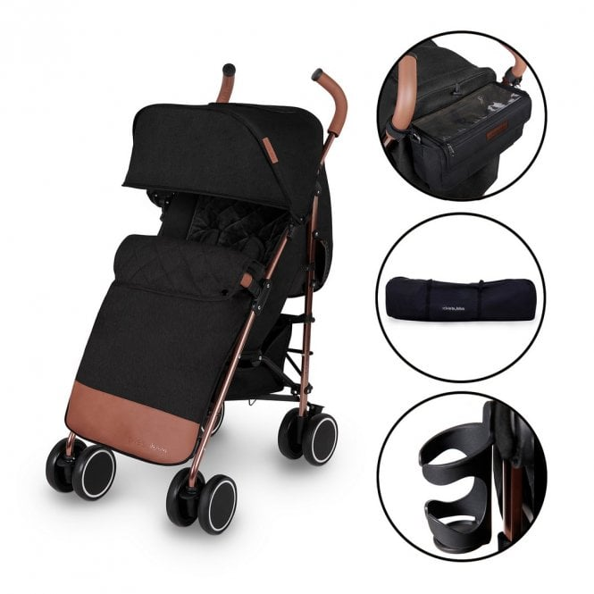 Discovery Prime Pushchair - Black On Rose Gold