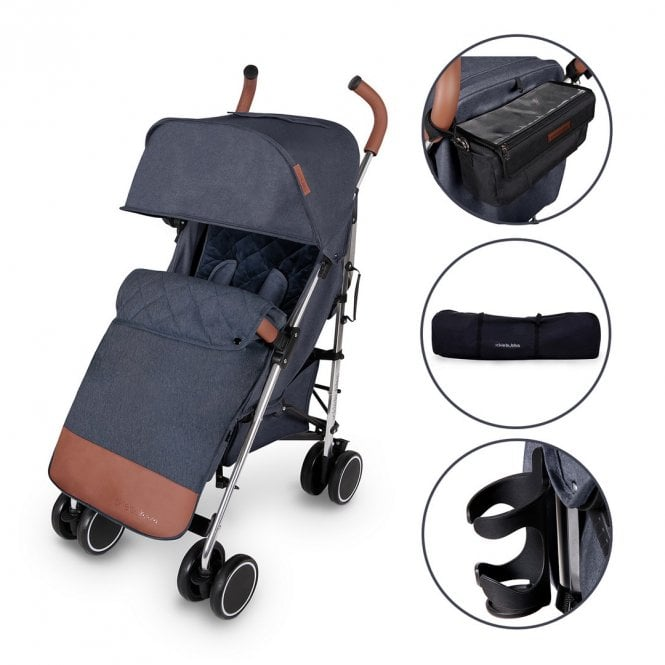 Discovery Prime Pushchair - Denim Blue On Silver