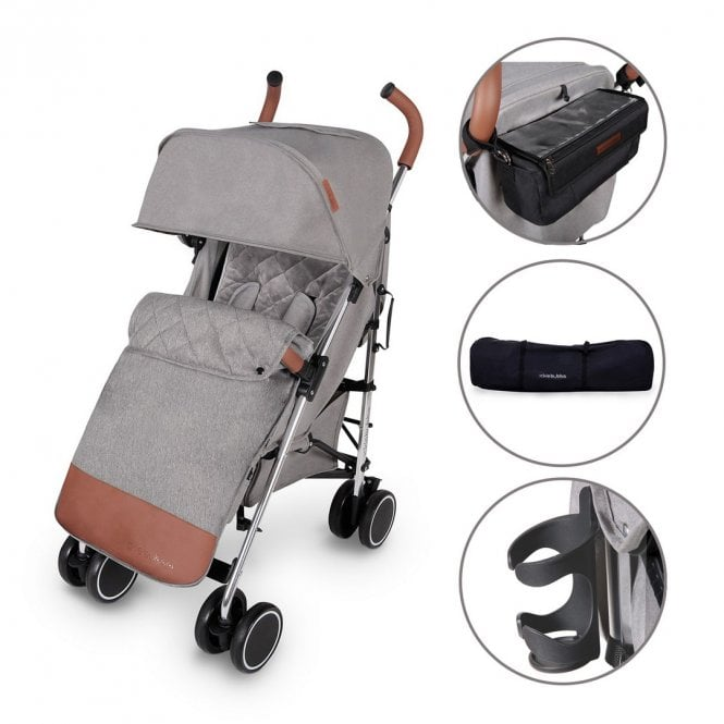 Discovery Prime Pushchair - Grey On Silver