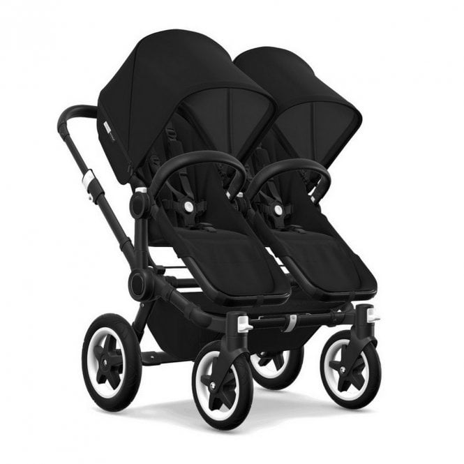 Donkey 2 Twin Pushchair Black Chassis - Black