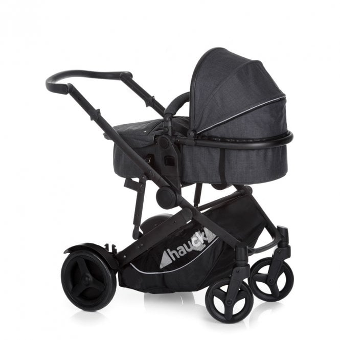 Duett 3 Tandem Pushchair - Melange Black