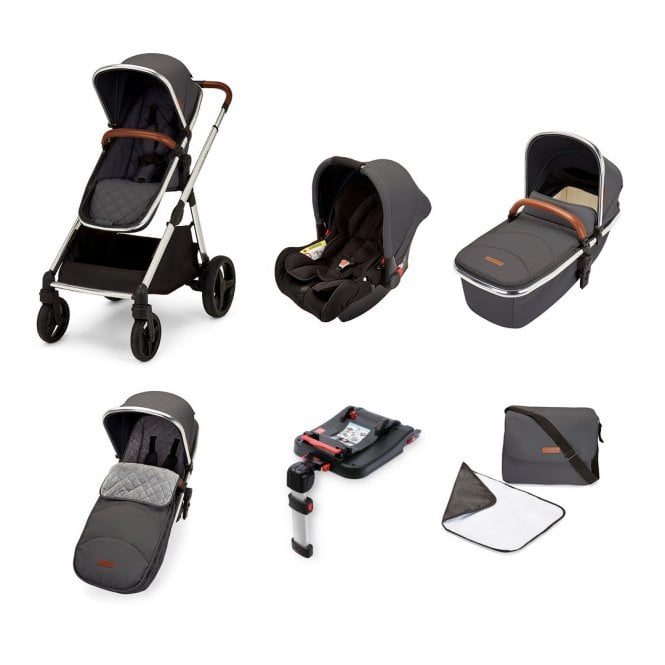 Eclipse All In One Travel System + Galaxy Car Seat + ISOfix Base - Graphite Grey On Chrome