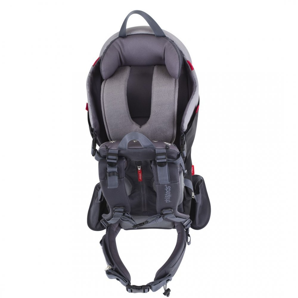 Red//Charcoal Free Shipping! Phil /& Teds Escape Backpack Carrier New