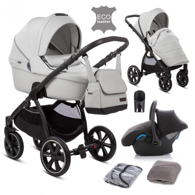 Fjordi Leather 3 in 1 Travel System - Cloud