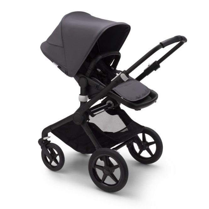 Fox 2 Pushchair Black - Steel Blue