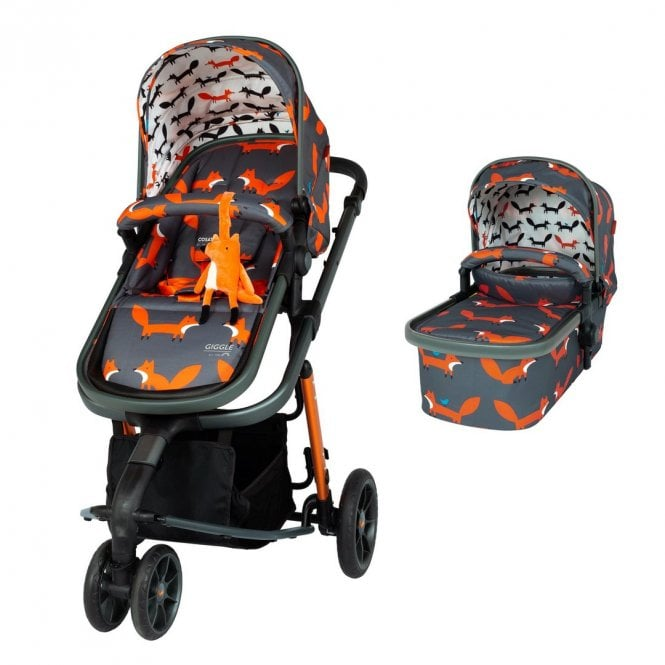 Giggle 3 Pram & Pushchair - Charcoal Mister Fox