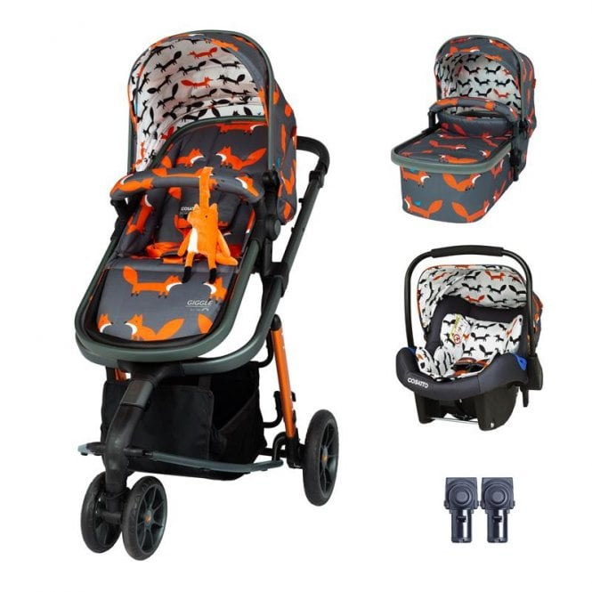 Giggle 3 Travel System Bundle - Charcoal Mister Fox