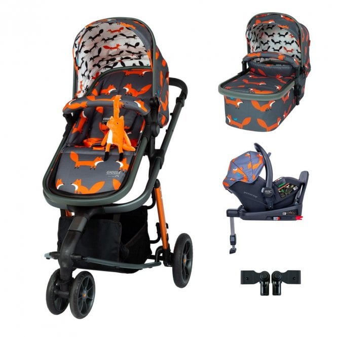 Giggle 3 Travel System i-Size Bundle - Charcoal Mister Fox