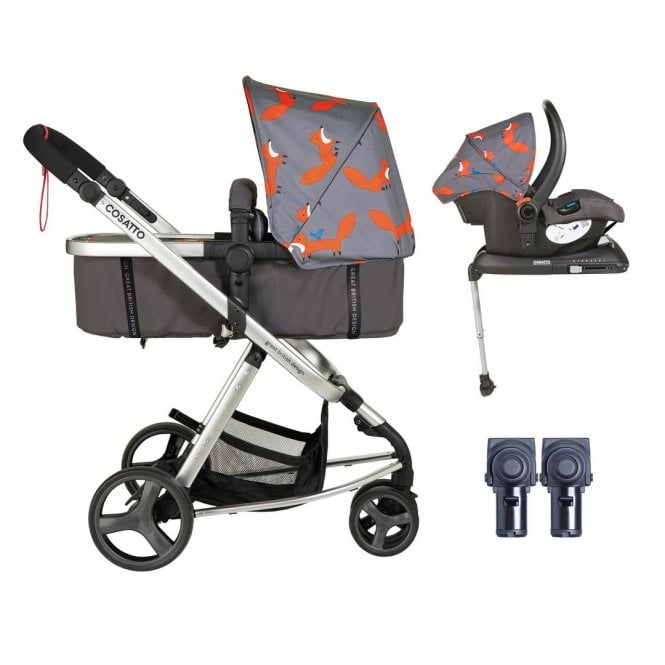 Giggle Mix Whole 9 Yards Hold ISOfix Bundle - Charcoal Mister Fox