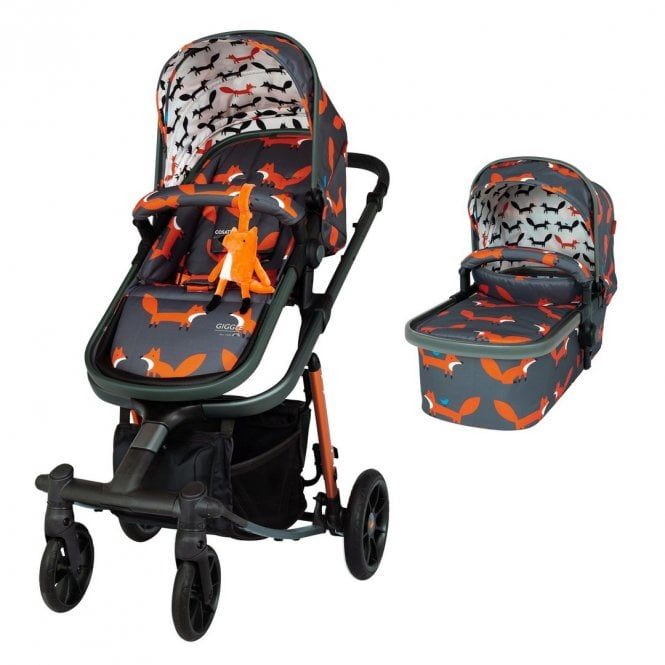 Giggle Quad Pram & Pushchair - Charcoal Mister Fox