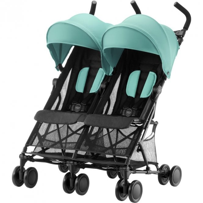 Holiday Double Pushchair - Aqua Green (disco 5 sept 2019)