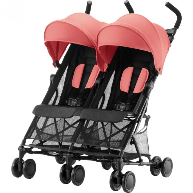 Holiday Double Pushchair - Coral Peach