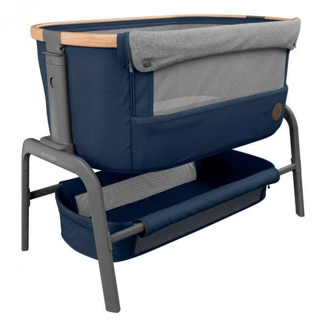 Iora Co-Sleeper Cot - Essential Blue