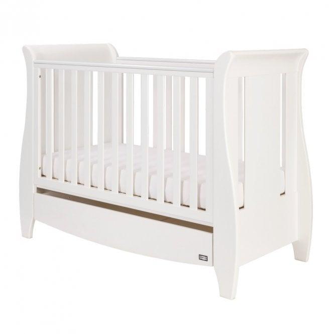 Katie Mini Sleigh Cot Bed - White