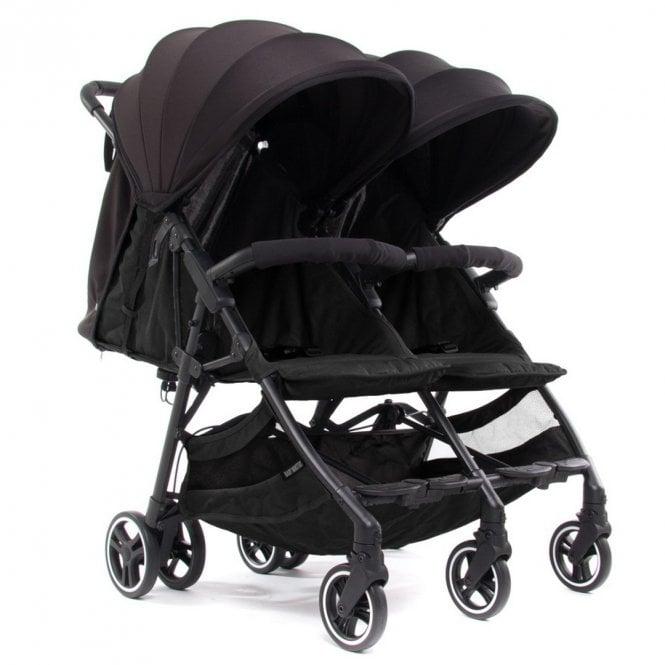 Kuki Twin Stroller - Black / Black
