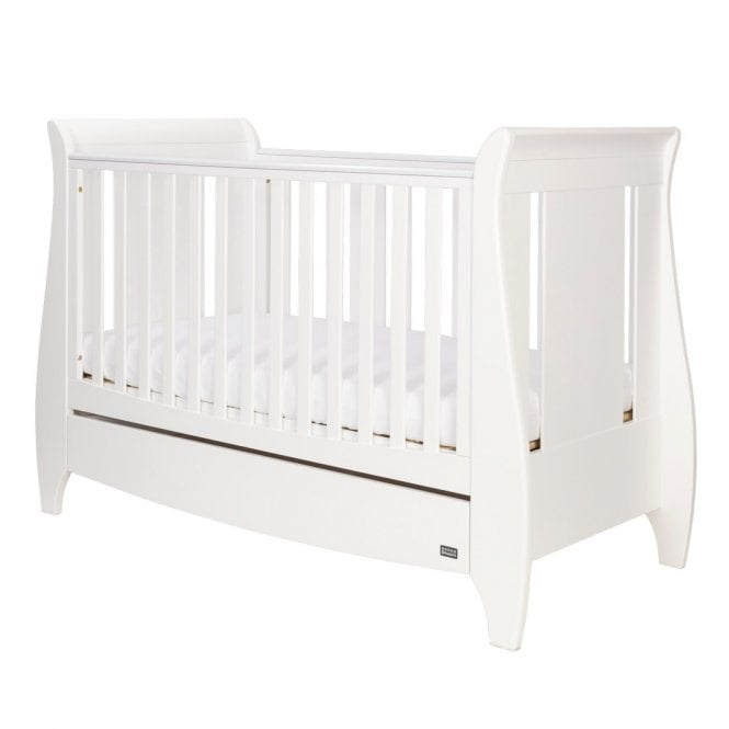 Lucas Sleigh 3 In 1 Cot Bed - White