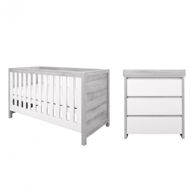 Modena 2 Piece Room Set - Grey Ash / White