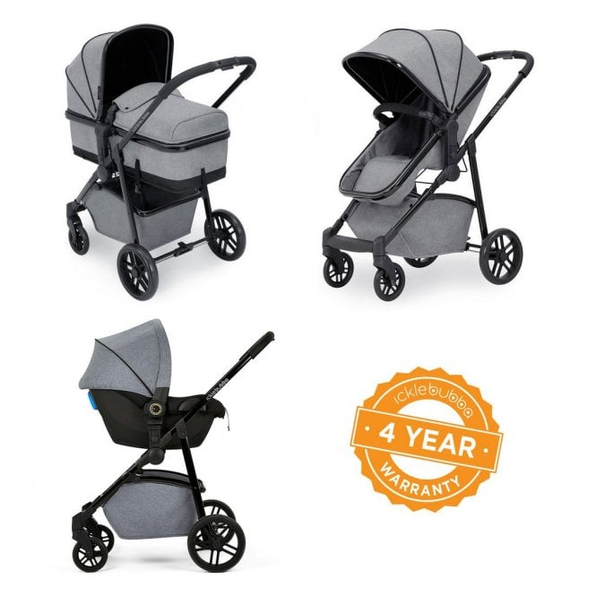 Moon 3 In 1 Travel System + Astral Car Seat - Space Grey On Black