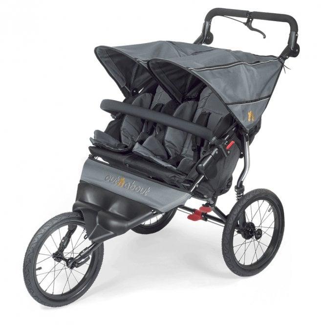 Nipper Sport Double Pushchair - Steel Grey