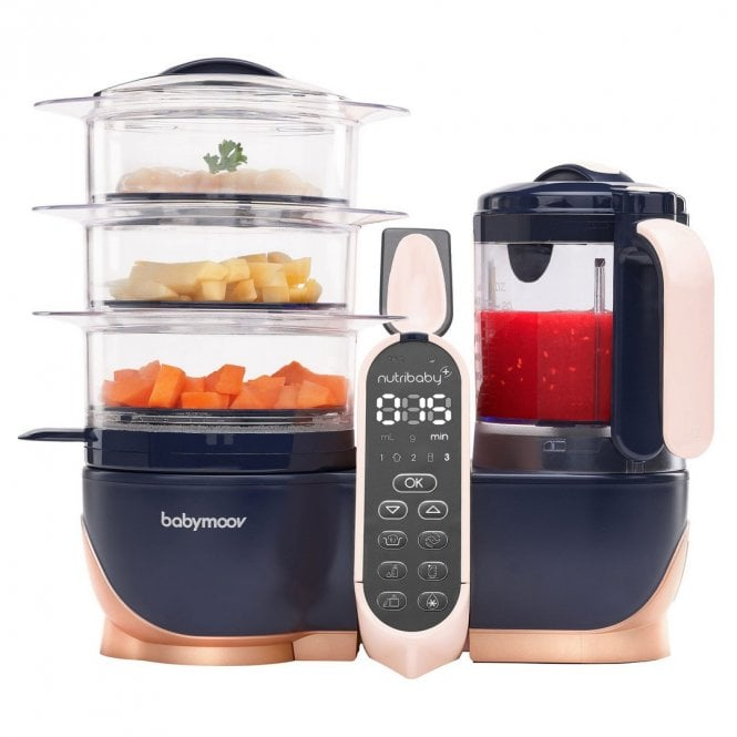 Nutribaby+ XL Baby Food Processor - Navy / Rose Gold
