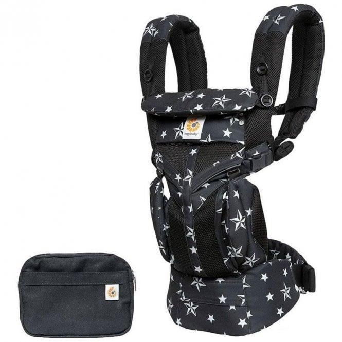 Omni 360 Cool Air Mesh Baby Carrier - Black Stars