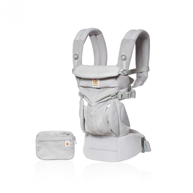 Omni 360 Cool Air Mesh Baby Carrier - Grey Pink Dots