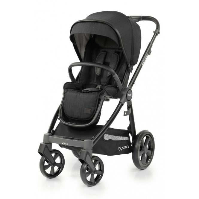 Oyster 3 Pushchair - Noir Caviar On Black