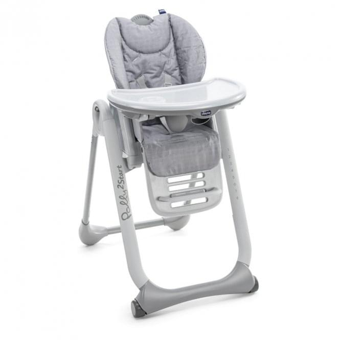 Polly 2 Start Highchair - Happy Silver