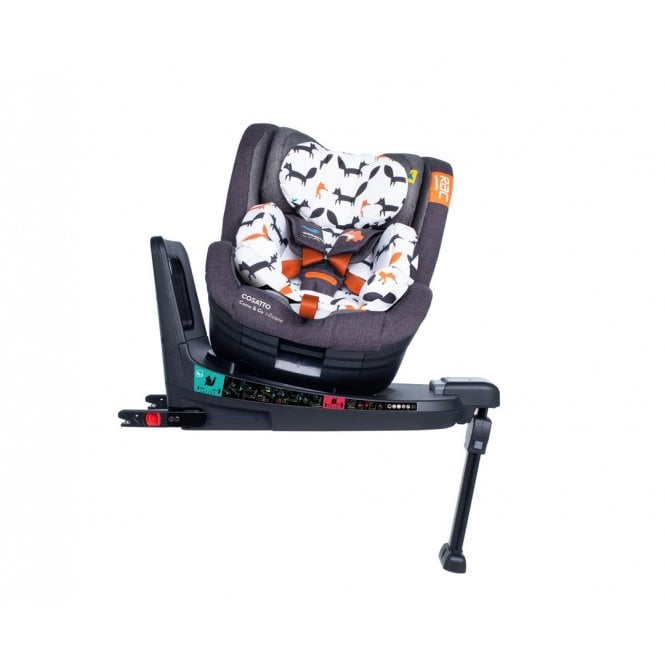 RAC Come and Go i-Rotate i-Size Car Seat - Charcoal Mister Fox