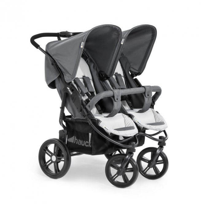 Roadster Duo SLX Double Pushchair - Grey / Silver