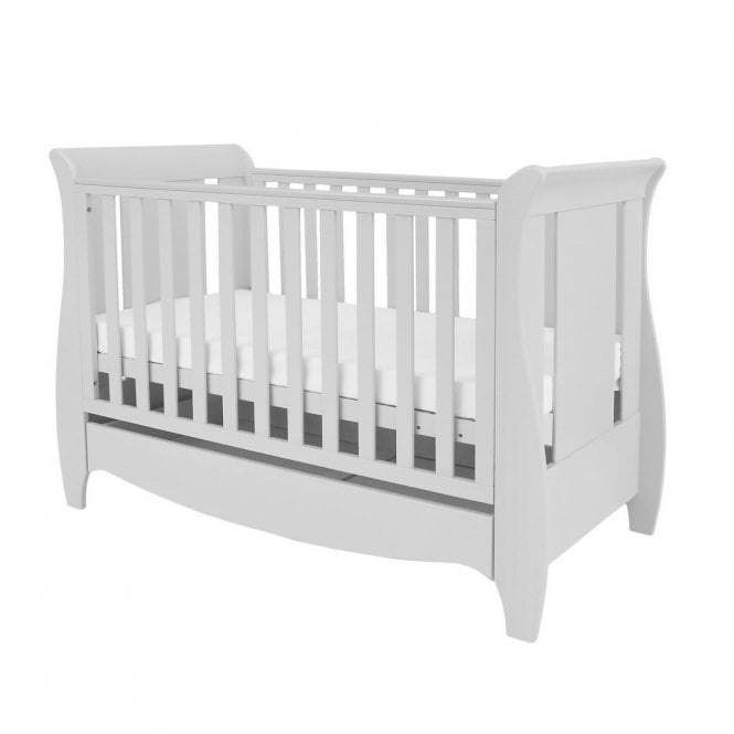 Roma Space Saver Sleigh Cot Bed - Dove Grey
