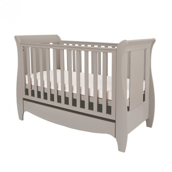 Roma Space Saver Sleigh Cot Bed - Truffle Grey