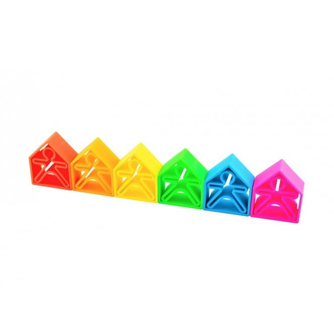 Silicone Toy - 12 Piece Set - Neon