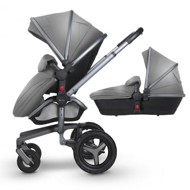 Silver Cross Surf 3 Pram & Pushchair Graphite Chassis