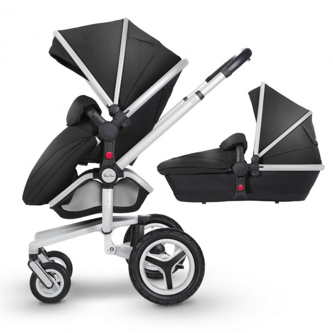 Silver Cross Surf 3 Pram & Pushchair Silver Chassis