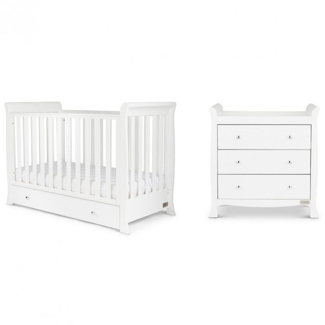 Snowdon 4 in 1 Mini 2 Piece Furniture Set and Fibre Mattress - White
