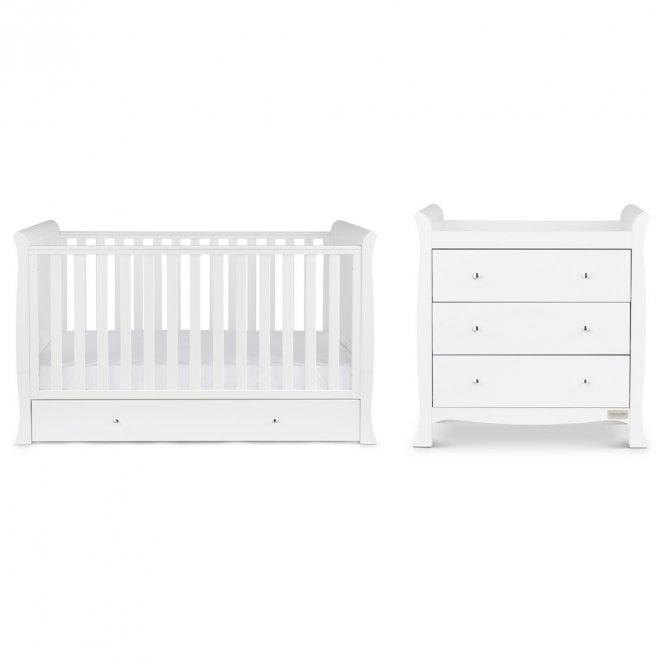 Snowdon Classic 2 Piece Furniture Set and Fibre Mattress - White