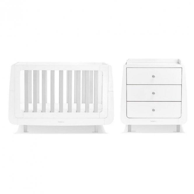 Kot Mode 2 Piece Nursery Furniture Set - Grey