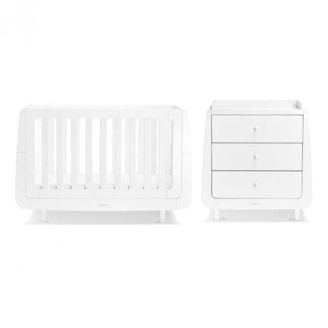 Kot Mode 2 Piece Nursery Furniture Set - White