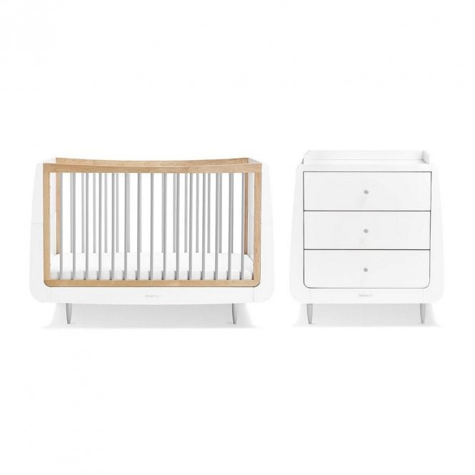 Kot Skandi 2 Piece Nursery Furniture Set - Grey