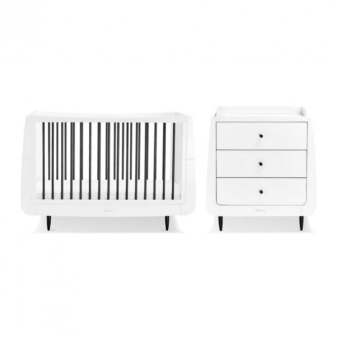 Kot Skandi 2 Piece Nursery Furniture Set - Mono