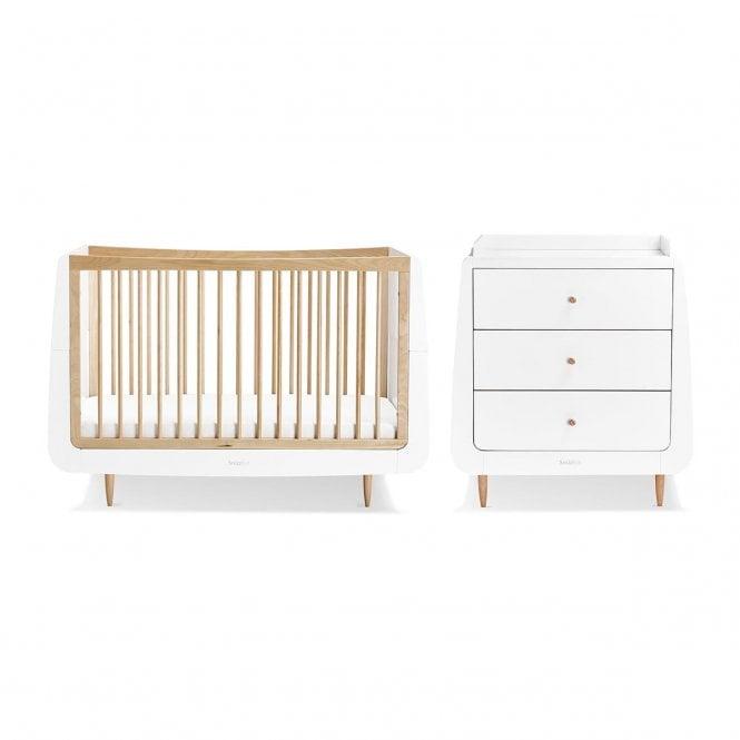 Kot Skandi 2 Piece Nursery Furniture Set - Natural