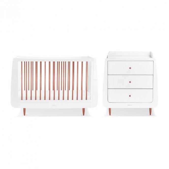 Kot Skandi 2 Piece Nursery Furniture Set - Rose Gold