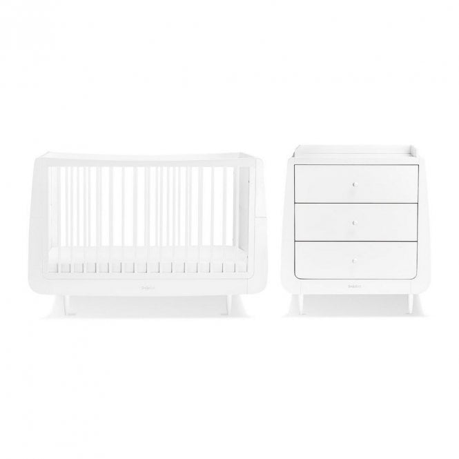 Kot Skandi 2 Piece Nursery Furniture Set - White